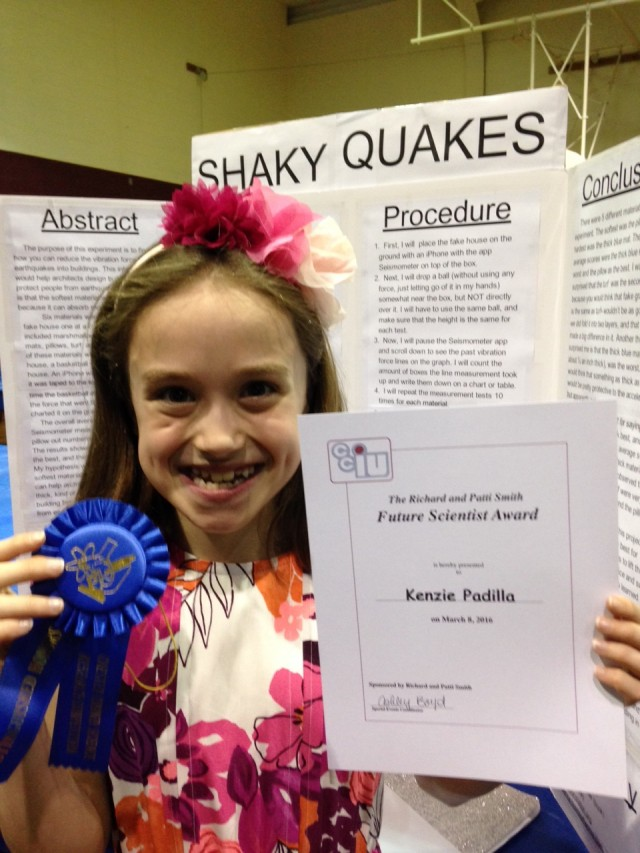 Earthquake Science Fair Project Idea with IPhone app
